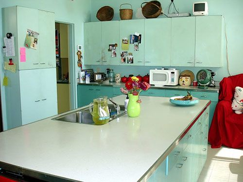 painted metal kitchen cabinets - Google Search | Basement ...