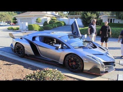 Monterey Car Week 2013 Video 1 Lamborghini Veneno Laferrari