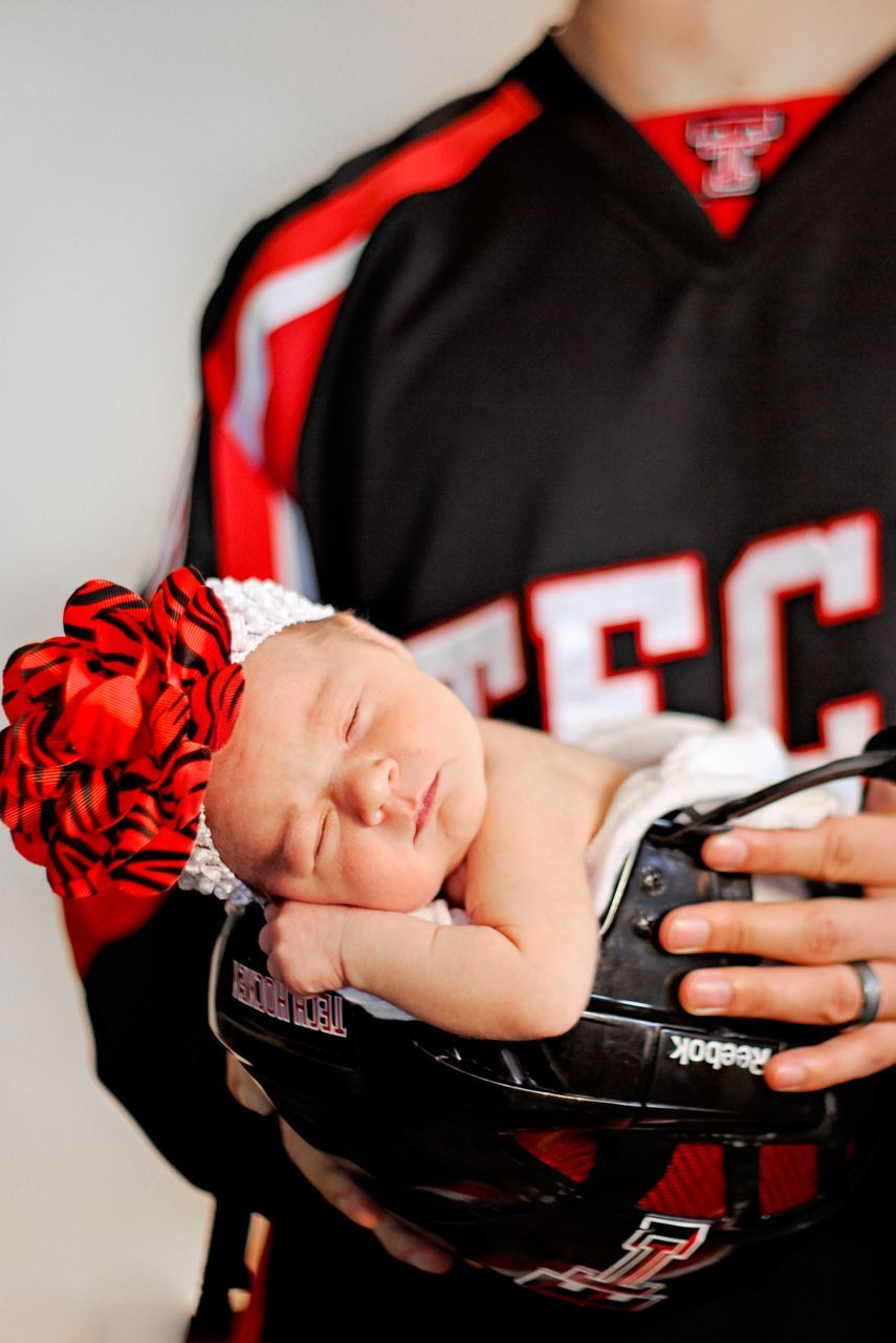 Texas tech hockey newborn picture! My baby girl (  too cute  ad6a76823
