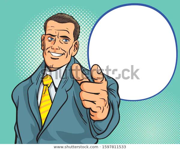 Man Pointing Finger Retro Style Pop Stock Vector Royalty Free 1597811533 Pop Art Comic Pop Art Retro Fashion