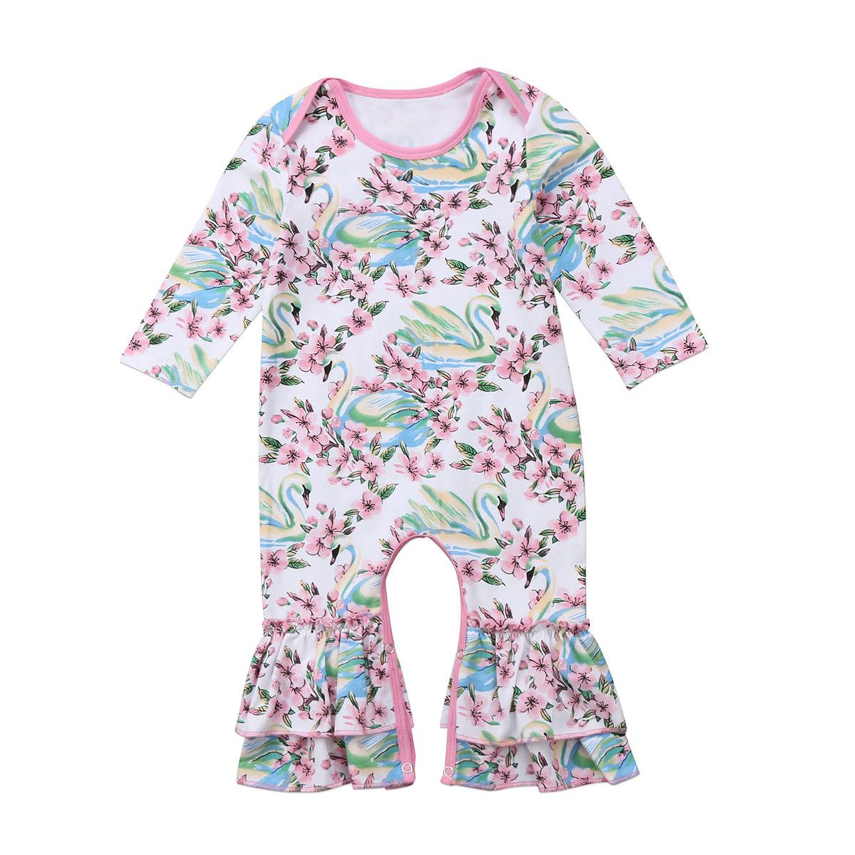 38ebea28c39d Usborn Kids Baby Girls Infant Romper Jumpsuit Bodysuit Clothes Outfits  0-24M  ebay  Fashion