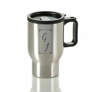 Double Wall 16 Oz. Stainless Steel Travel Mug w/ Plastic Liner