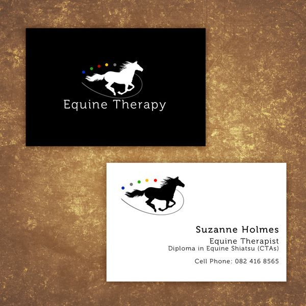 Business Card Design For Equine Therapy Professional By Vanessa Macleod Via Behance Business Card Design Equine Therapy Card Design