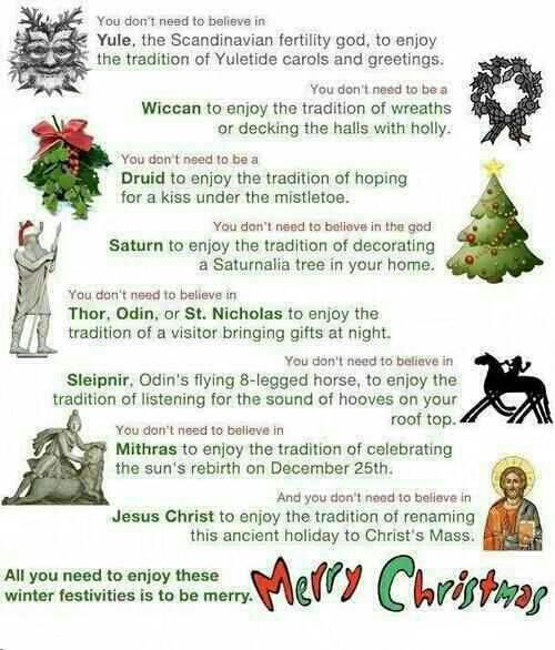 Christmas Origins.People Who Claim To Be Christians Have No Business