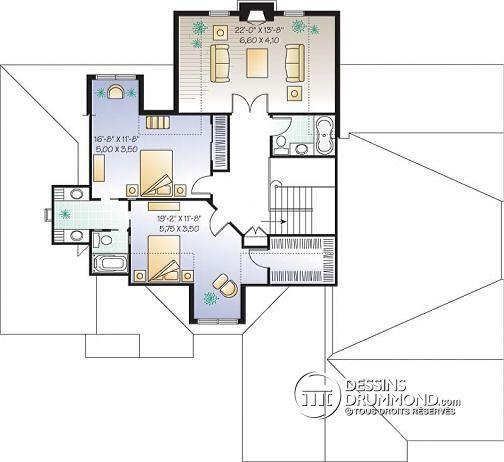 Visitez notre site internet pour voir les planchers et photos de cette maison ou pour commander ...