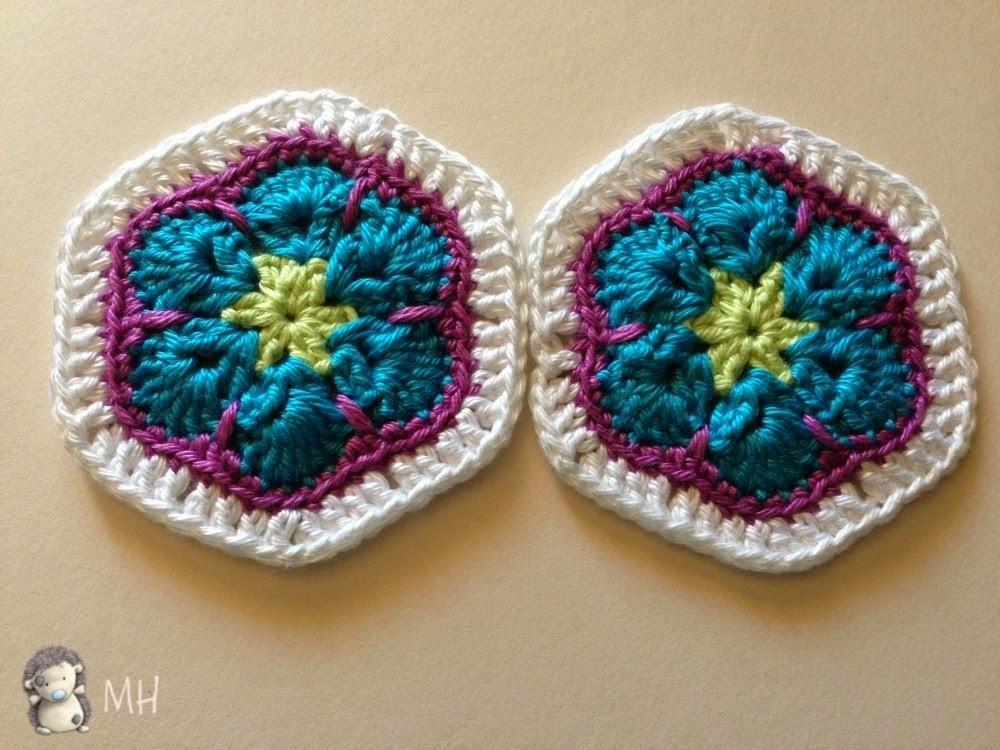 Hexágono African Flower de Seis Pétalos | crochet flor africana ...