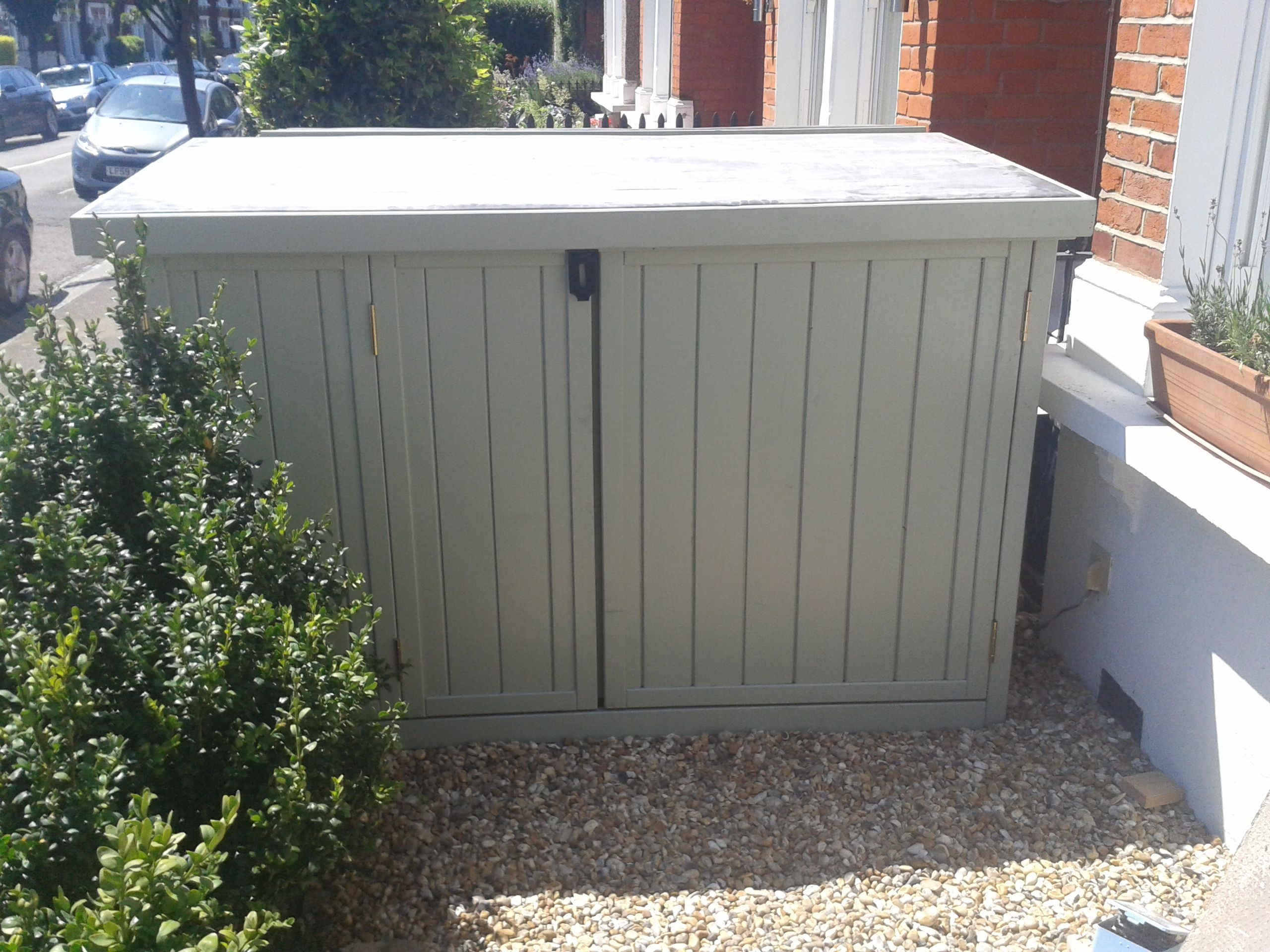 Captivating Secure 3 Bike Storage Shed, Perfect For Front Garden.