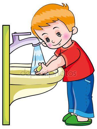 Descargar - Higiene. niño lavándose las manos ...