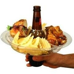 Hold your munchies with your beer!