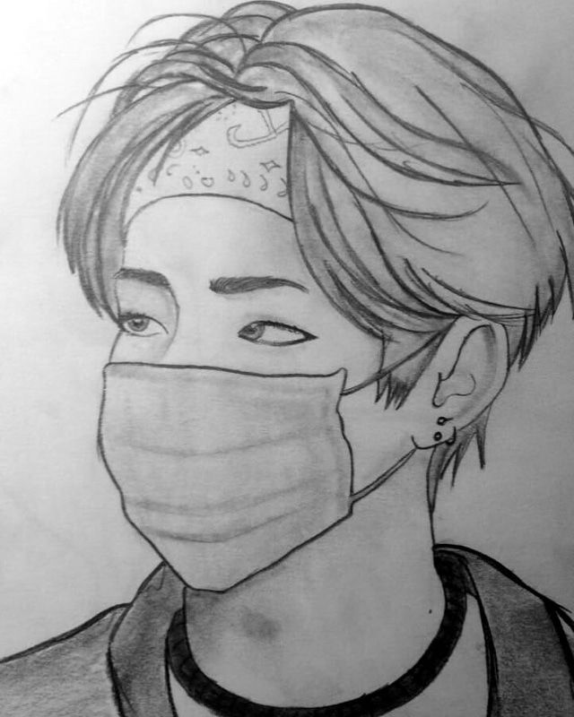Pin By Emily Dinenna On Bts 7 Bts Drawings Easy Drawings Art Drawings Simple