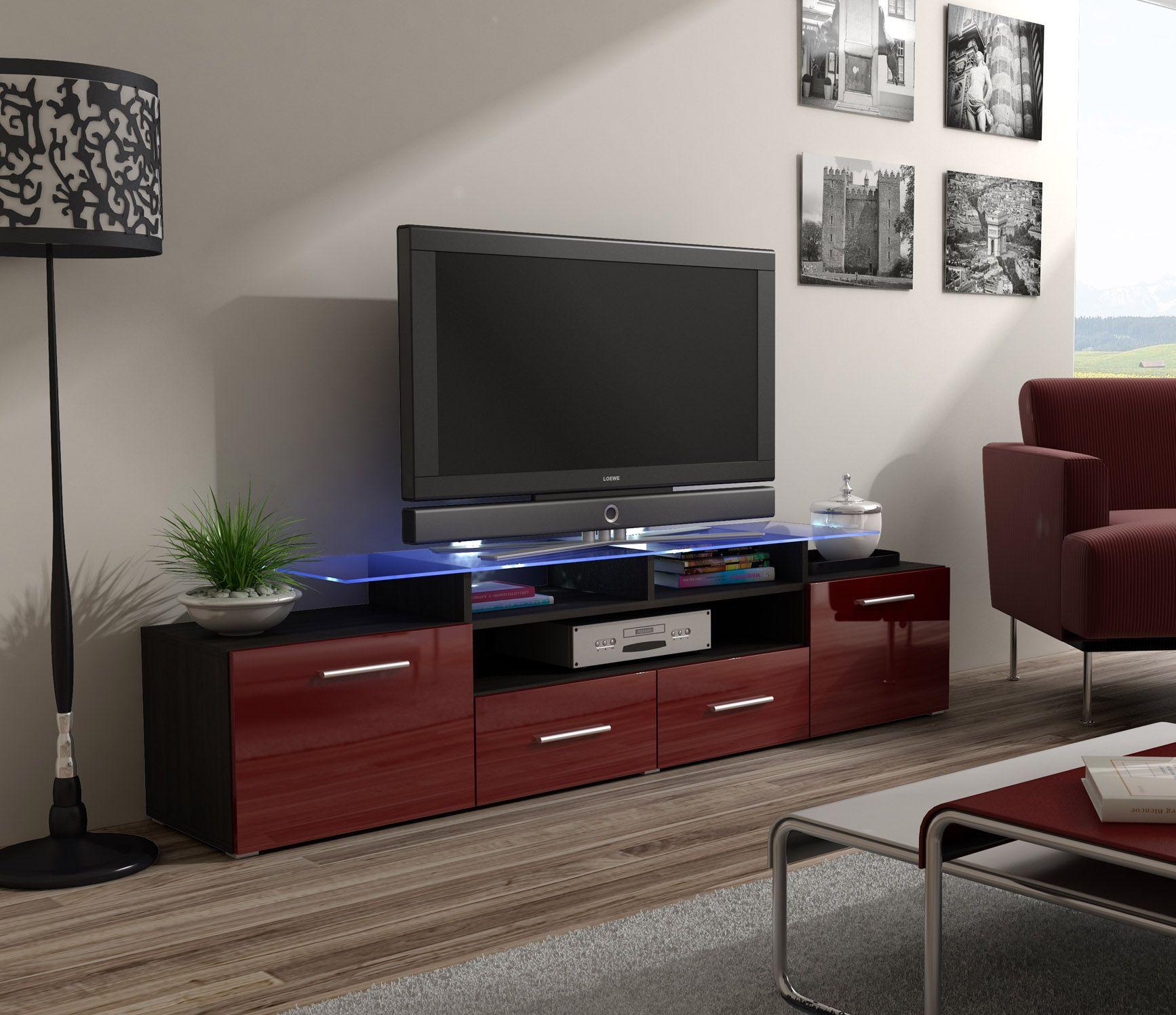 Enea Wenge Tv Unit White Tv Unit And Modern Tv Units # Meuble Tv Techno