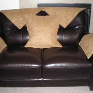 Brown Leather Sofa Armrest Covers