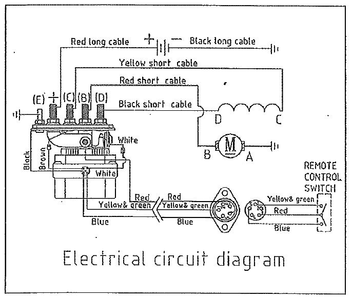 normal remote control for electric winch wiring diagram