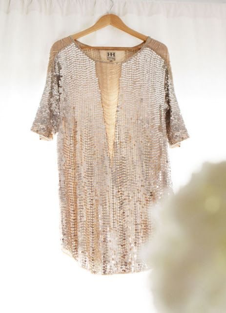 60dd5e4468 Sparkle Sequin Loose Fitting Shirt Blouse Top. Perfect to wear with  leggings and high heels.