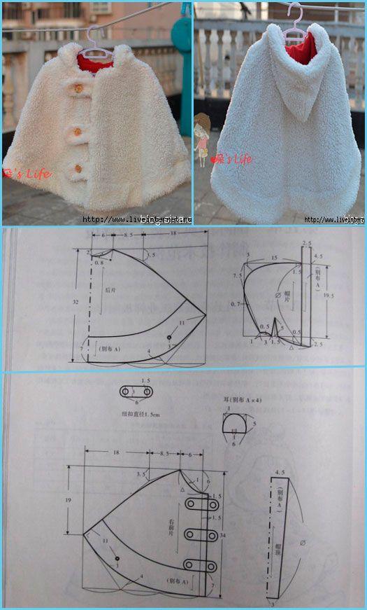 abrigos-para-hacer-con-moldes-o-patrones | CAMPERITAS BEBE tejido ...