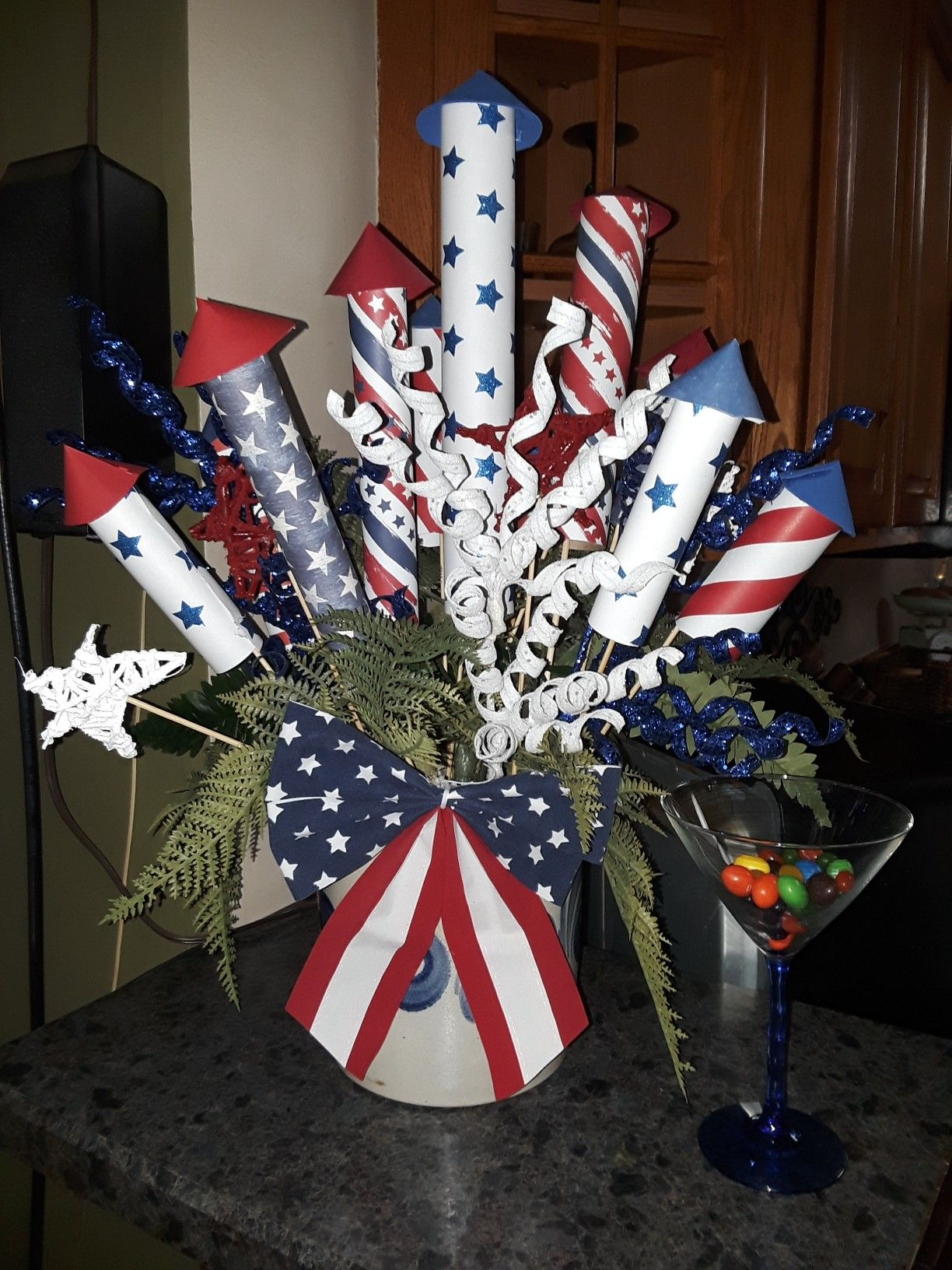 Diy Red And Black Eye Makeup: DIY Red, White & Blue Fireworks Centerpiece