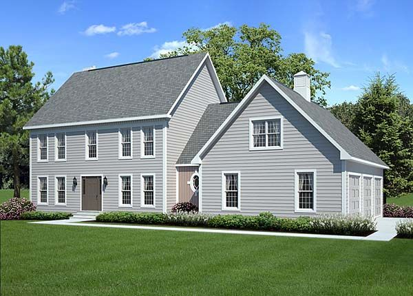 Traditional Style House Plan 24966 With 3 Bed 3 Bath 3 Car Garage Colonial House Plans Colonial House Center Hall Colonial