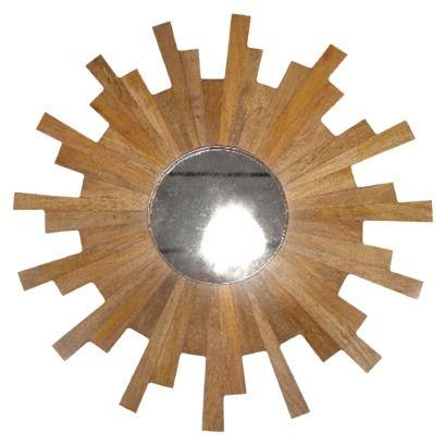 Wood Starburst Wall Mirror 40 00 Ideias Futuras Ideias