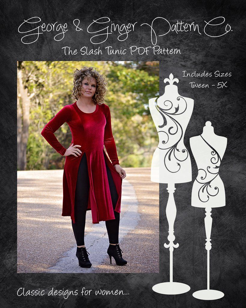 7699087702b The Slash Tunic (Women s Sizes) PDF Sewing Pattern
