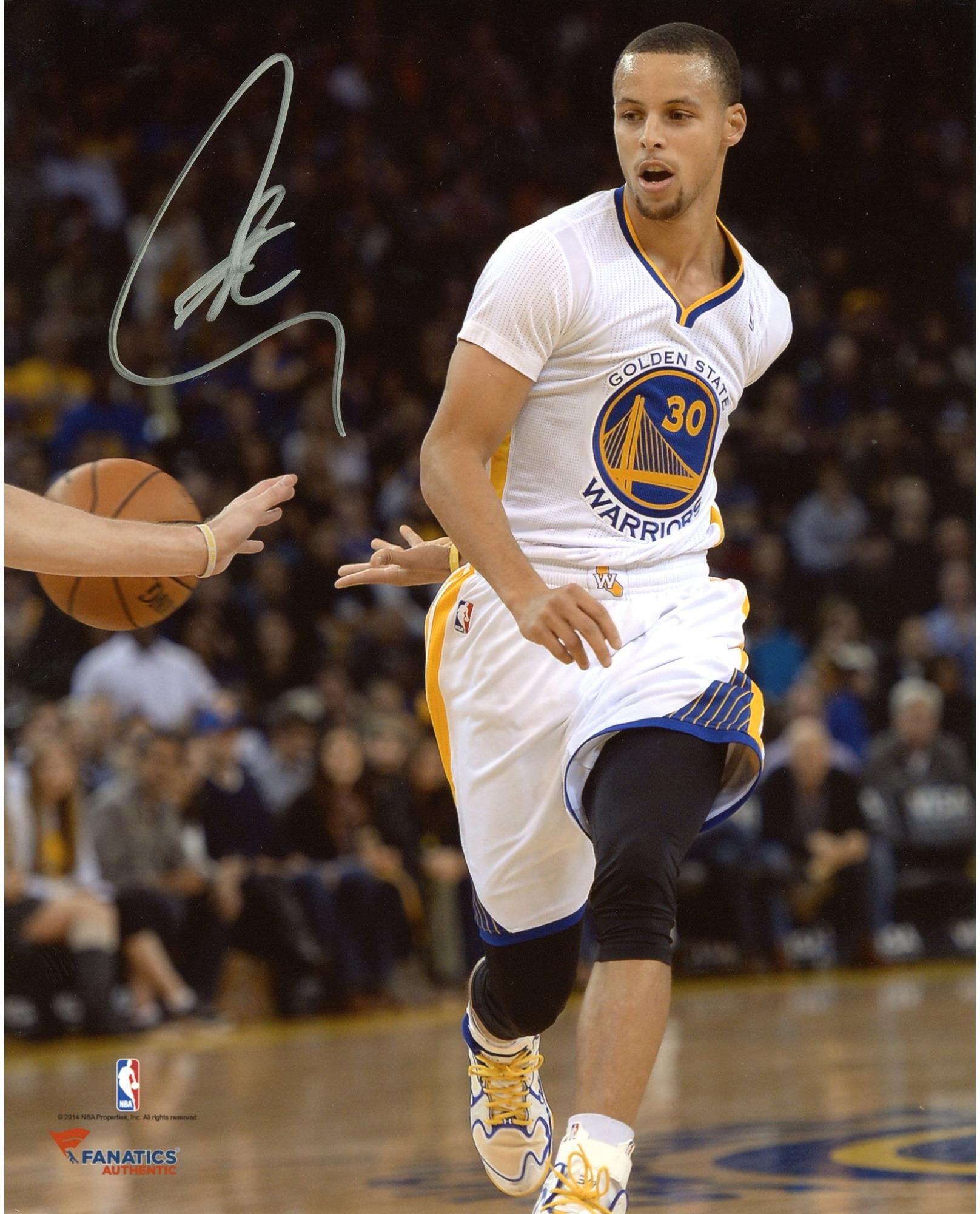 """Nba Stephen Curry: Stephen Curry Golden State Warriors Autographed 8"""" X 10"""