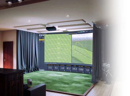 Indoor Golf Simulator Hd And Full Swing Indoor Golf In