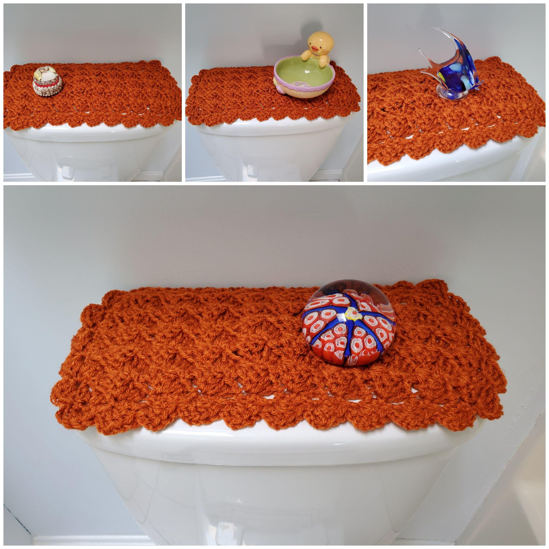 Toilet Tank Topper Crochet Toilet Tank Topper Bathroom Decor Etsy Toilet Tank Bathroom Decor Decor