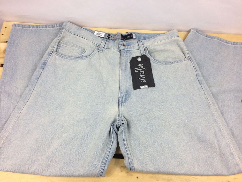 be3beabf Levis SilverTab Baggy Denim Jeans Loose Fit Light Blue Mens Size 36x32 NWT # Levis #BaggyLoose