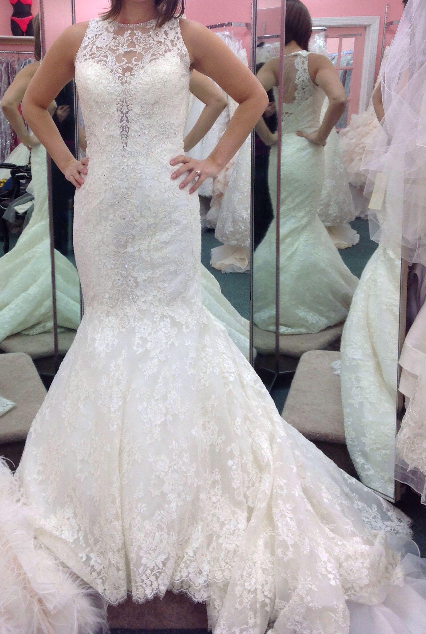 Allure C280 Dress On A Real Bride Dresses Wedding Dresses Mermaid Wedding Dress [ 2060 x 1384 Pixel ]