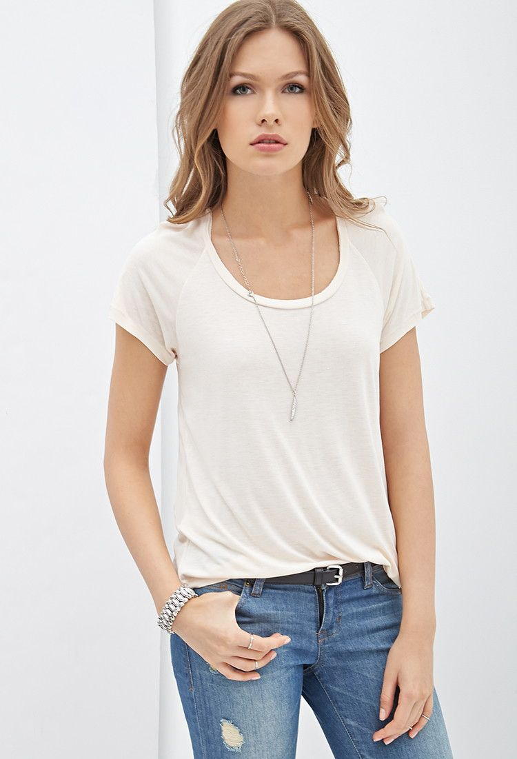 243120fc34 Solid Knit Top - Tops - Blouses & Shirts - Short Sleeves - 2000101386 -  Forever 21 UK