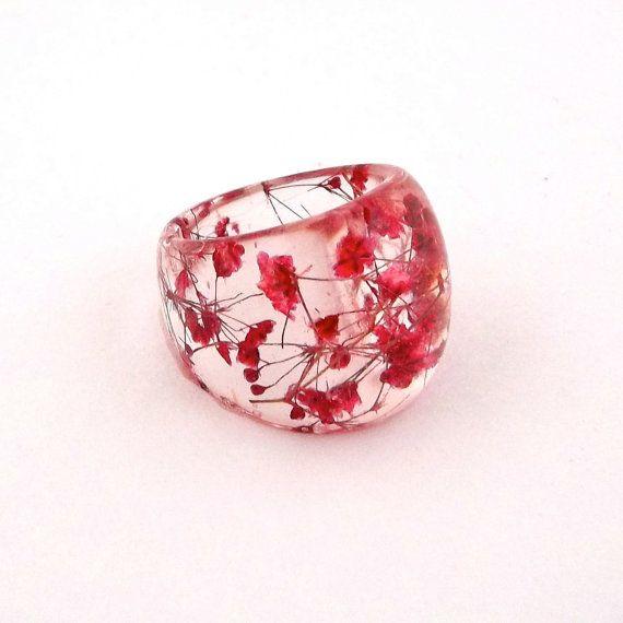 Pressed Flower Resin Ring