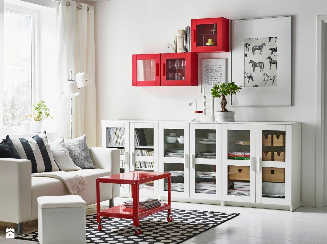 Salon Zdj Cie Od Ikea Salon Ikea Salon Living Room  # Kallax Blanc