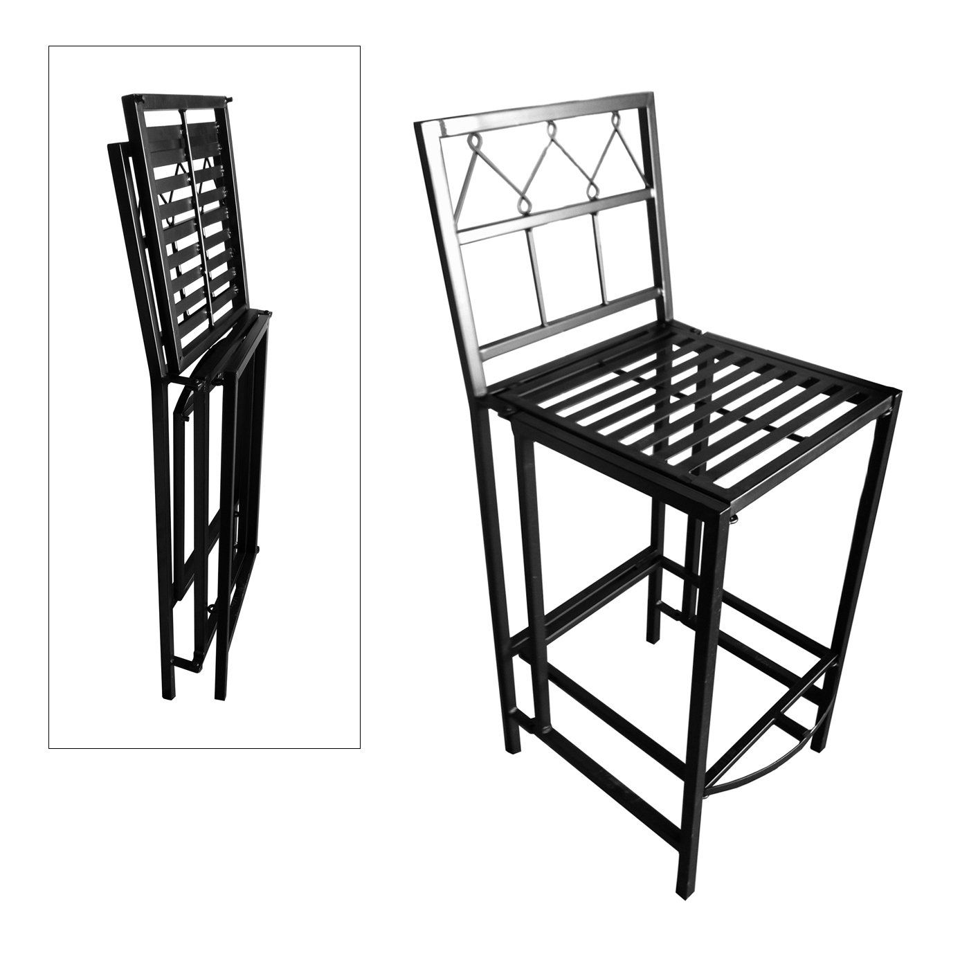 Pangaea Home And Garden Bt Bs4461 K Folding Clic Iron Bar Stool Outdoor