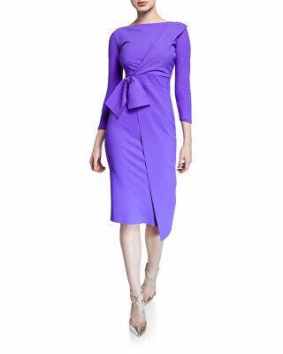 adb444ec3bb Chiara Boni La Petite Robe Designer Gurli Bateau-Neck 3 4-Sleeve Asymmetric