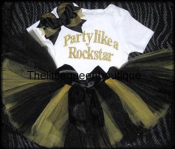 f74125ddbc7f 1st BIRTHDAY tutu outfit ROCKSTAR by TheLittleQueen