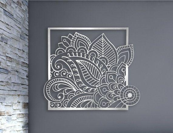Laser Cut Metal Decorative Wall Art Panel Sculpture For