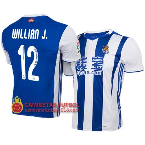 Primera camiseta Willian J. Real Sociedad 2016 2017  63a55c4e4fa15