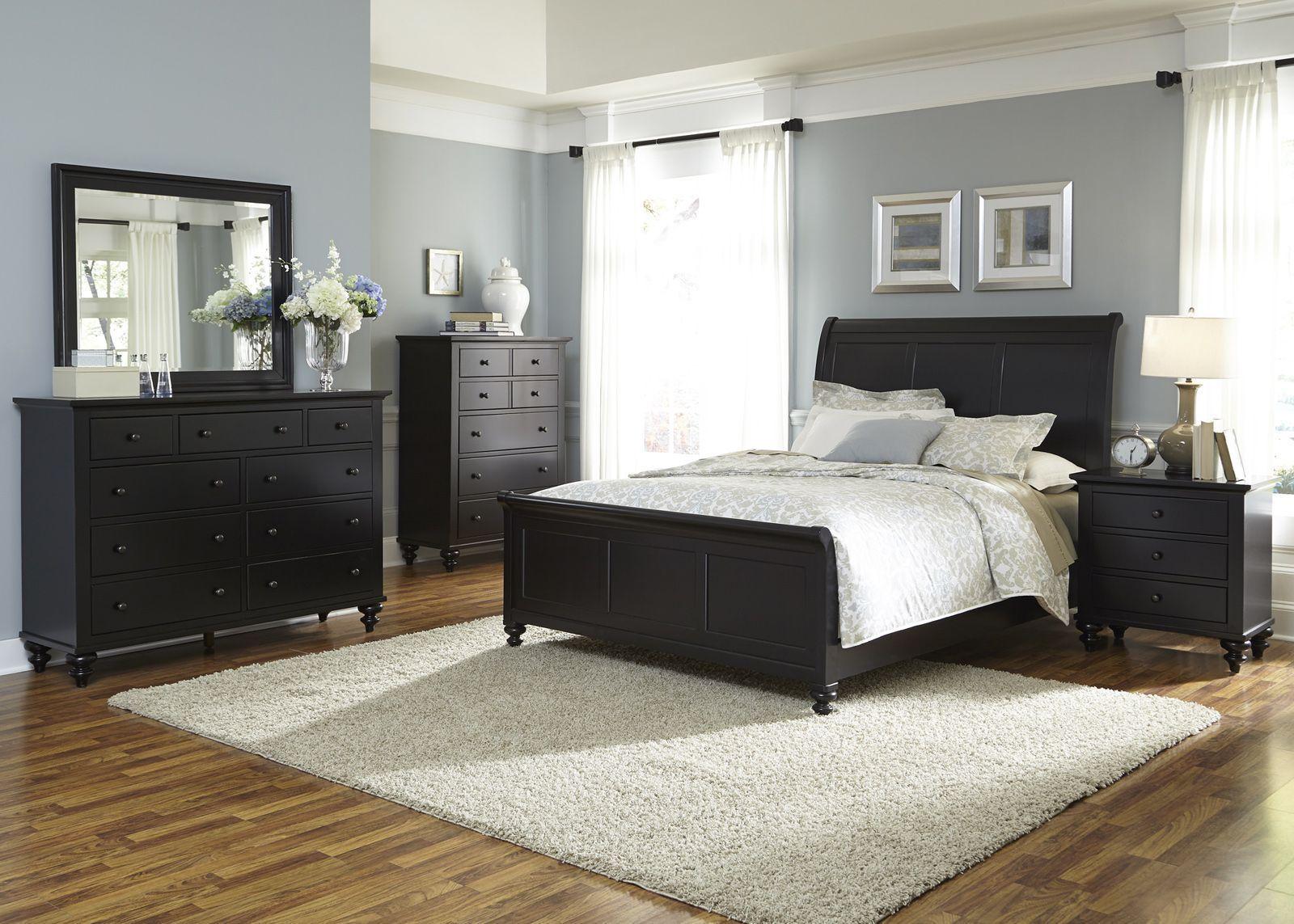 Liberty Furniture Hamilton III 4Piece Sleigh Bedroom Set