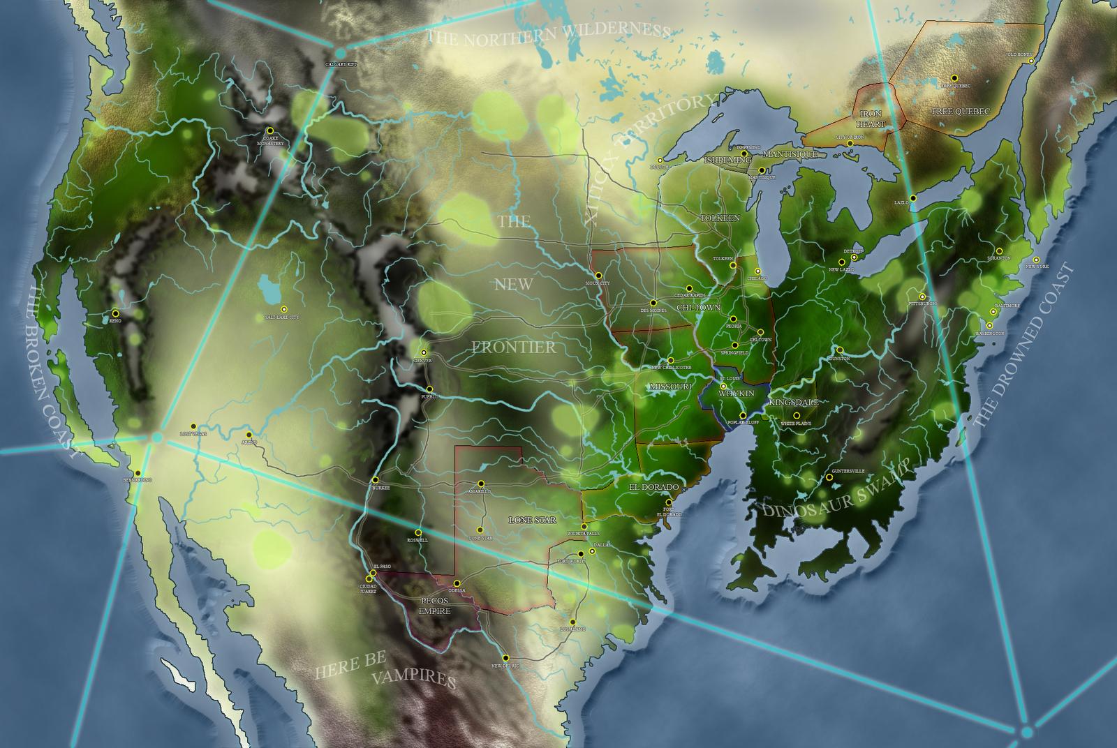 North America Map City And States%0A Palladium Rifts map