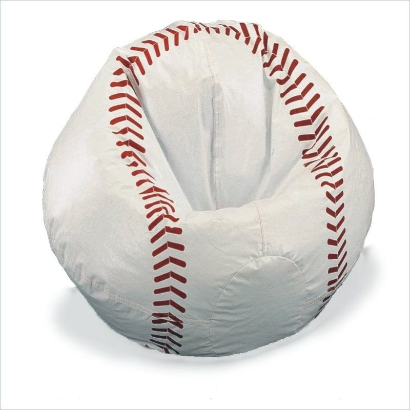 Funky Find Sports Vinyl Baseball Bean Bag Chair The Ideal For Your Sporty Little One