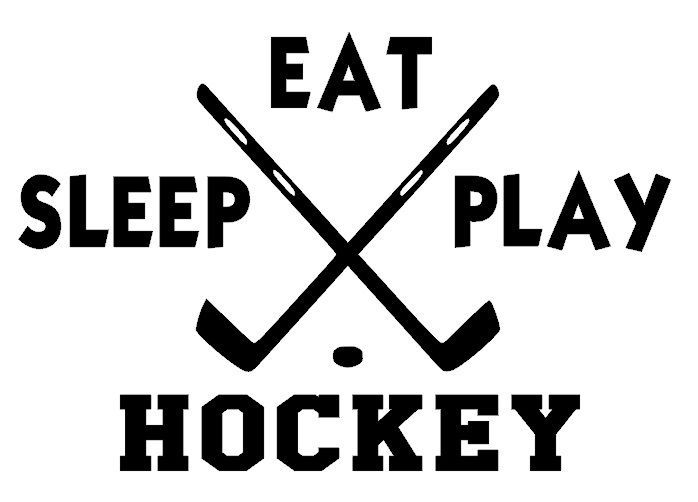 Eat Sleep Play Hockey Wall Decal Stickers Hockey Quotes Hockey Gifts Hockey Decals