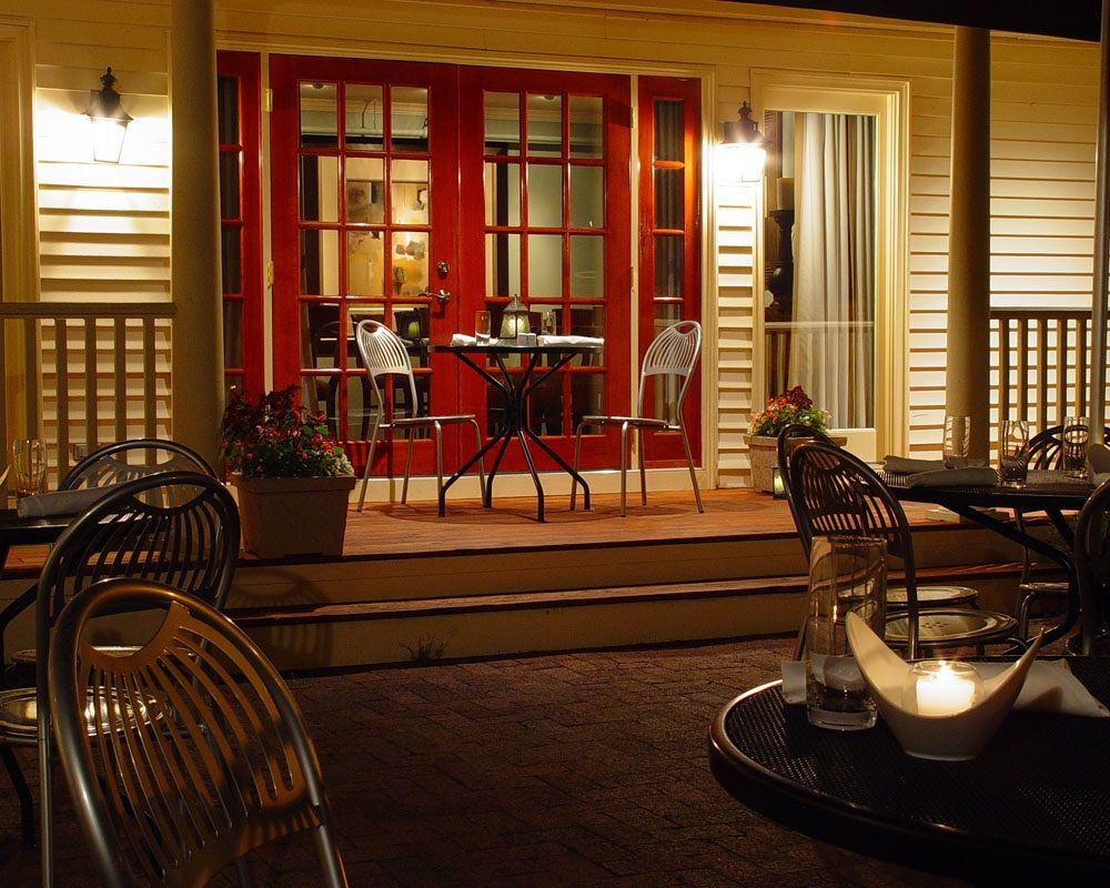 Ordinaire Patio Dining At Academe In Kennebunk