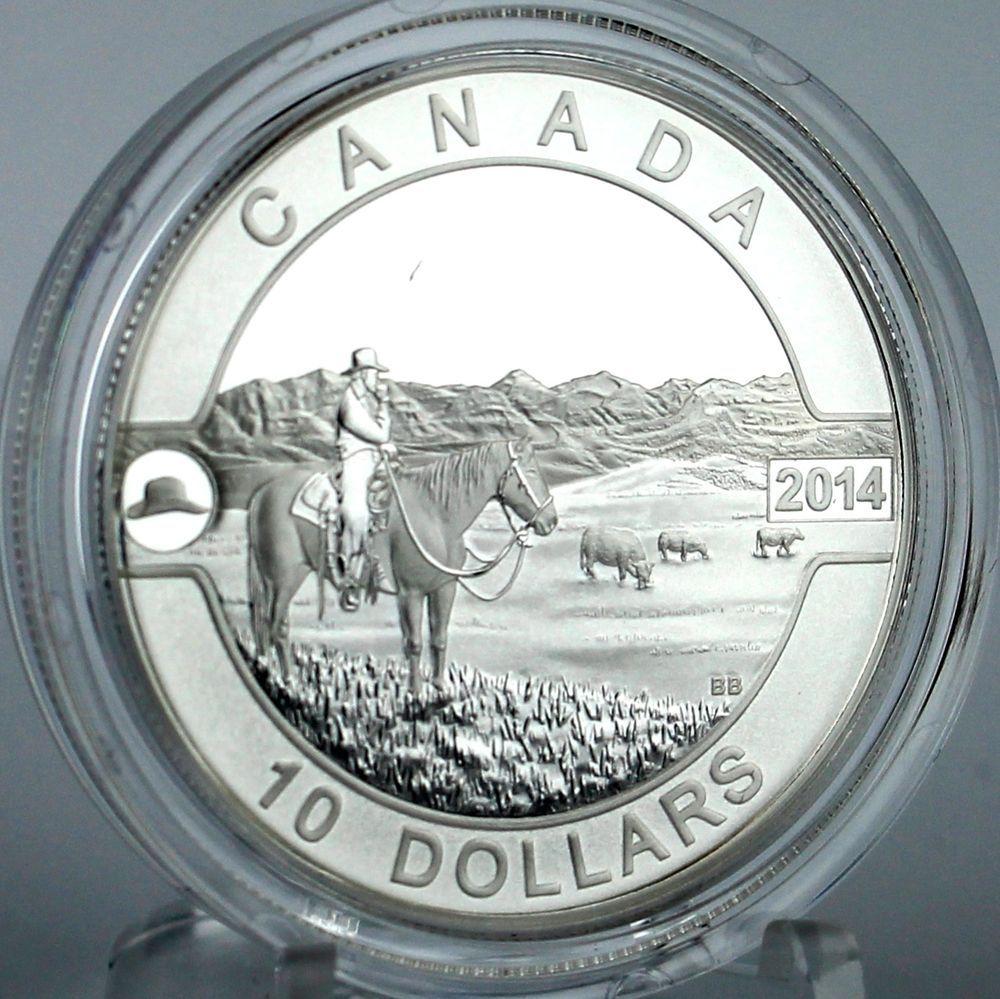 Details about 2014 10 The Canadian Cowboy ½ Oz Pure