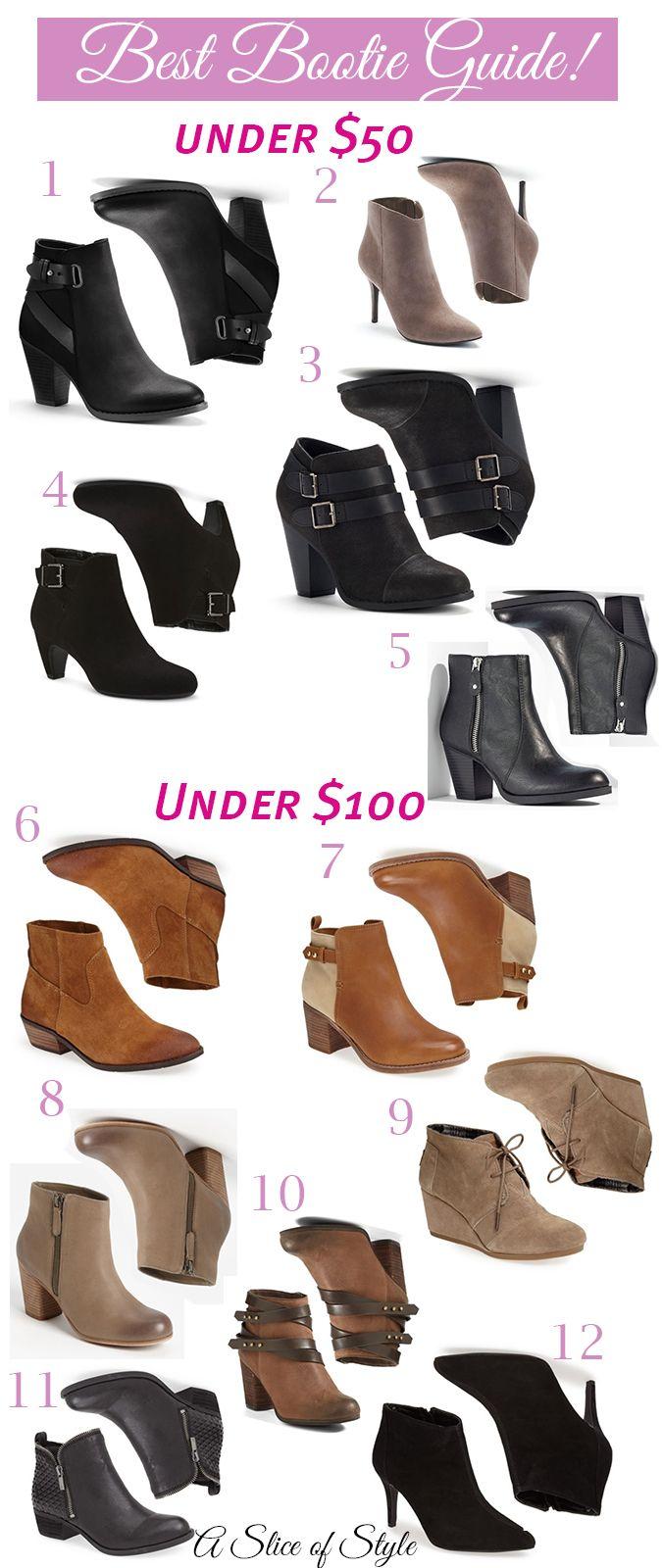 The best booties under $100!