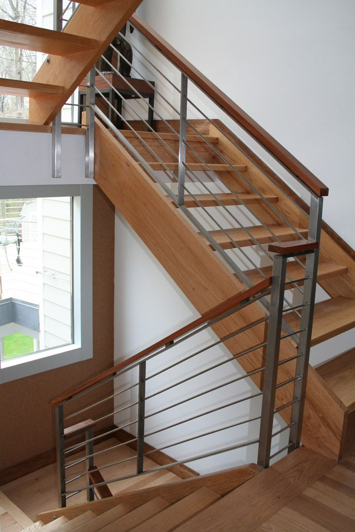 Eb stainless rail interior railings railings product for Interior wood railing designs