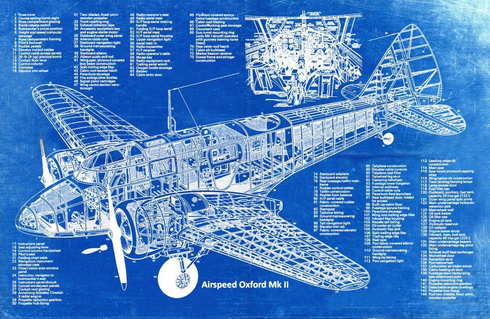 Blueprint art of plane airspeed oxford mk ii plane blueprint blueprint art of plane airspeed oxford mk ii plane bigbluecanoe malvernweather Choice Image