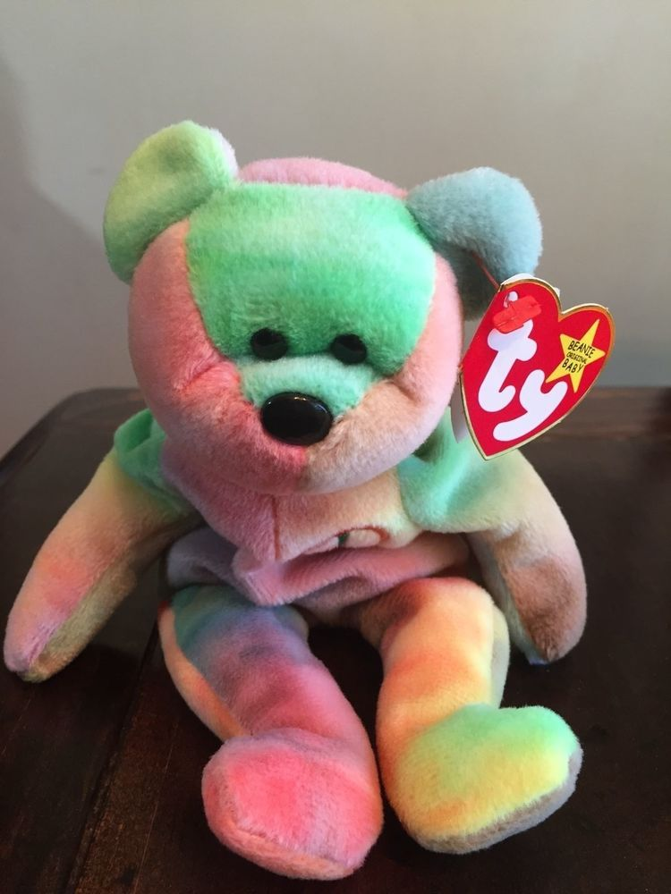 5eb4d91b6fc Rare Ty Beanie Baby Peace Bear Original Collectible with Tag Errors ...