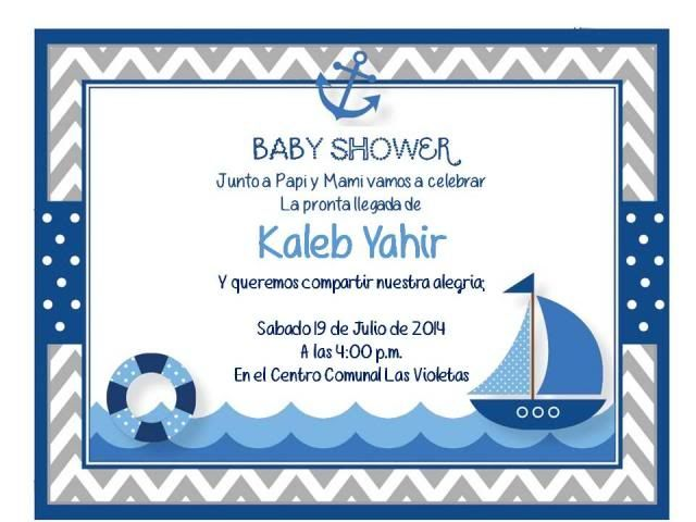 Invitaciones De Nautica Marinero Invitation Ideas