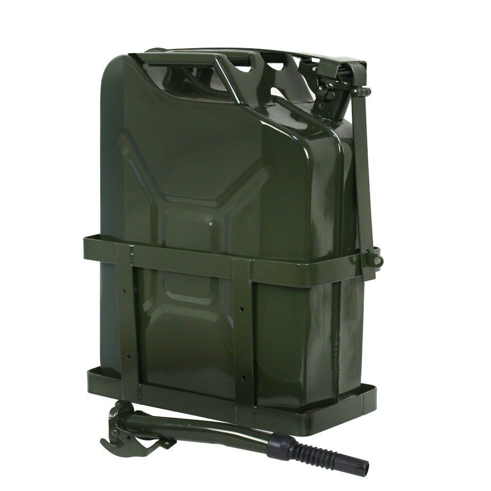 5 Gallon Jerry Can 20L Gas Gasoline Fuel Army NATO Military Metal Steel Tank