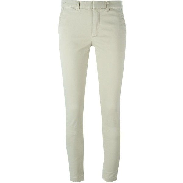 Polo Ralph Lauren Skinny Trousers ($130) ❤ liked on Polyvore featuring pants, capris, skinny pants, white pants, summer pants, white skinny pants and white summer pants