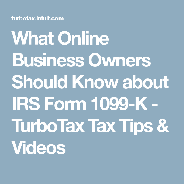 What Online Business Owners Should Know About Irs Form 1099 K